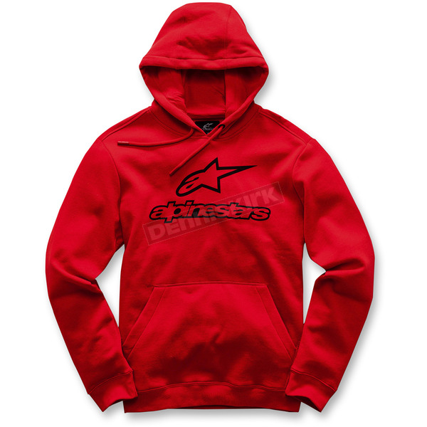 Alpinestars Red Always Pullover Fleece Hoody - 0175200630XL