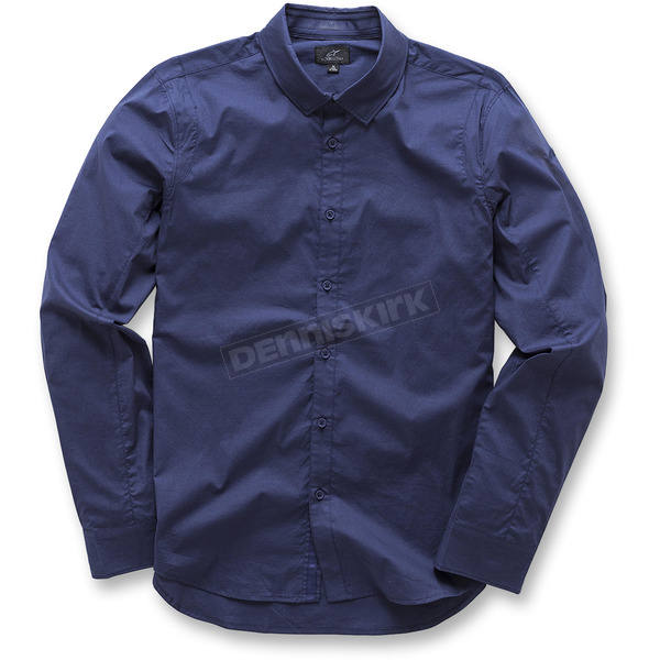 Alpinestars Navy Ambition Long Sleeve Shirt - 103731004702X