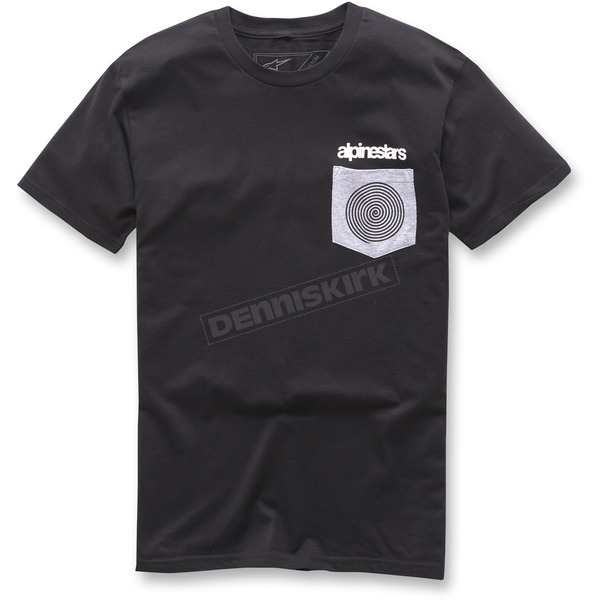 Alpinestars Black Pocket Spiral T-Shirt - 1037-72080-10-M