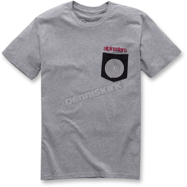 Alpinestars Gray Pocket Spiral T-Shirt - 10377208010262X