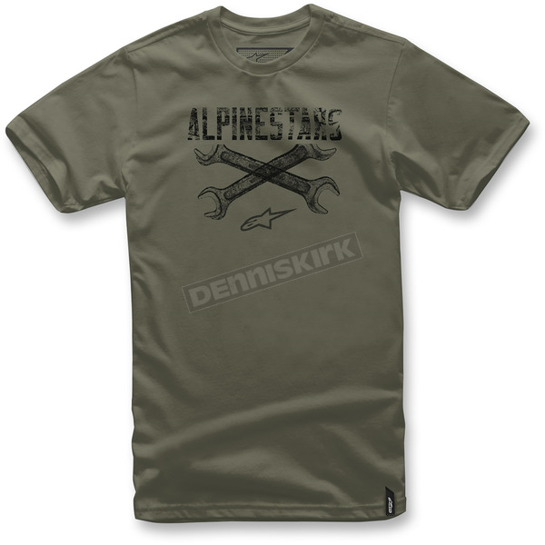 Alpinestars Military Green Ratchet T-Shirt  - 103772062690L