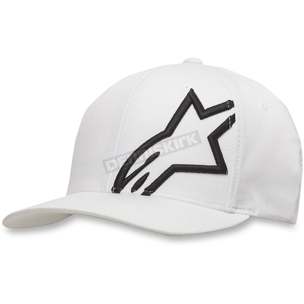 Alpinestars White/Black Corp Shift 2 Hat - 1032810082010SM