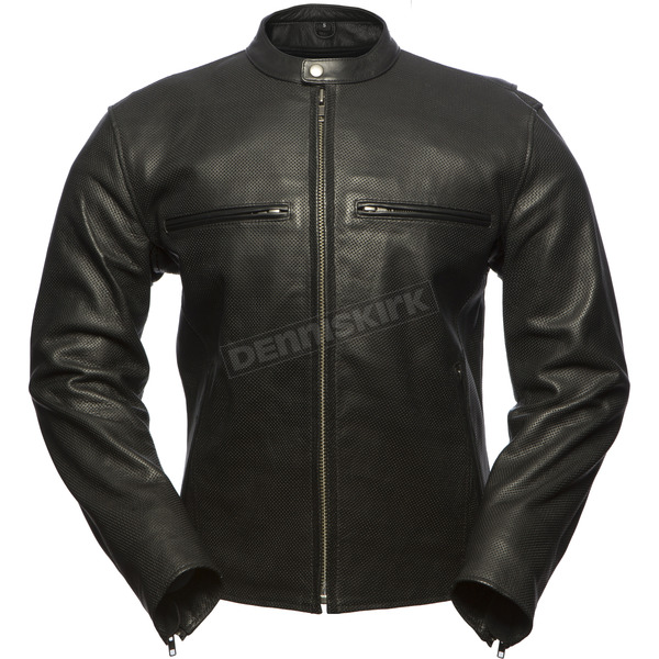 First Manufacturing Co. Turbine Perforated Leather Jacket - FIM-213-CNP-5X-3X