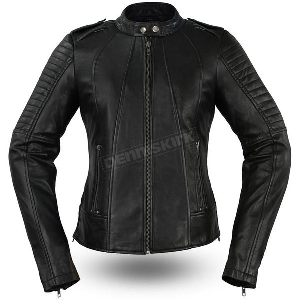 First Manufacturing Co. Women's Biker Leather Jacket - FIL-104-CHMZ-M