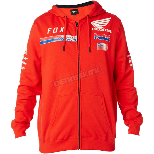 Fox Red Honda HRC USA Zip Hoody - 20819-003-M