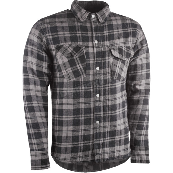 Highway 21 Black/Gray Marksman Riding Flannel Shirt - 489-11814X