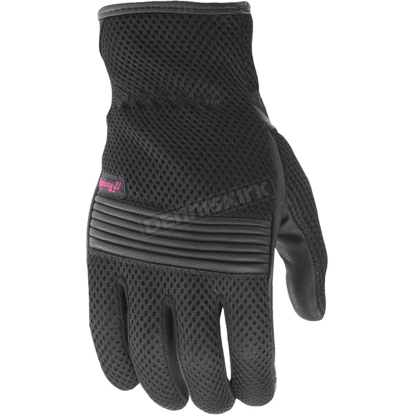 Highway 21 Women's Black Turbine Mesh Gloves - 489-0085X