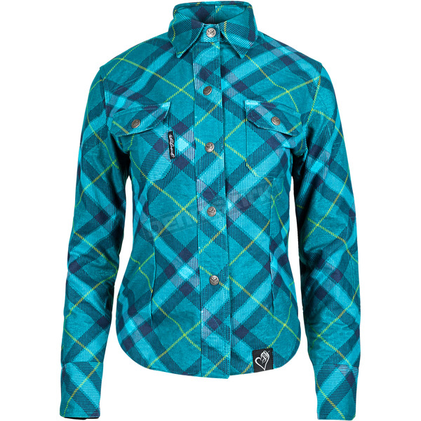 Speed and Strength Women's Teal Cross My Heart Moto Shirt - 884491