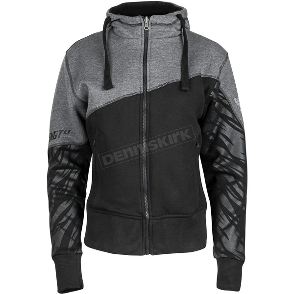 Speed and Strength Women's Black/Gray Cat Out'a Hell 2.0 Armored Hoody - 884446