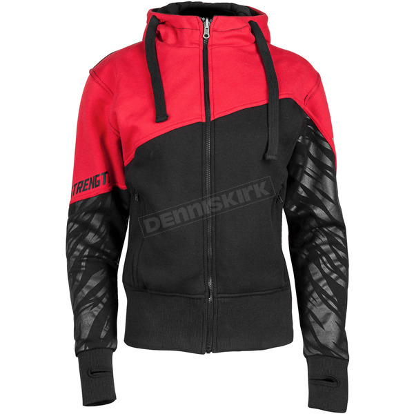 Speed and Strength Women's Red/Black Cat Out'a Hell 2.0 Armored Hoody - 884462
