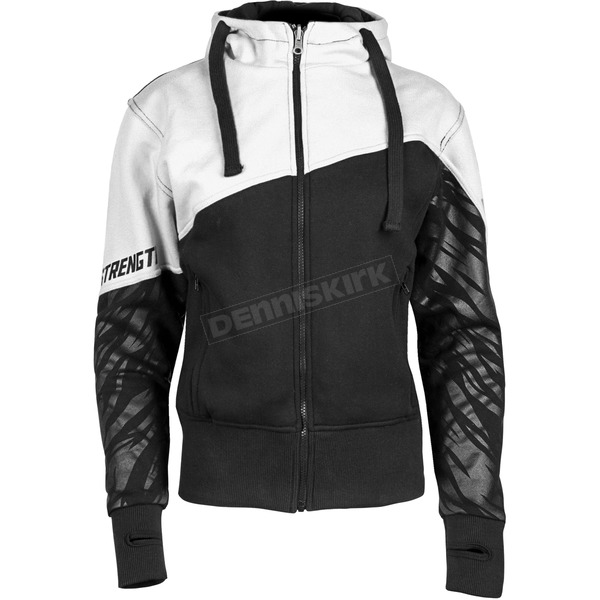 Speed and Strength Women's White/Black Cat Out'a Hell 2.0 Armored Hoody - 884453