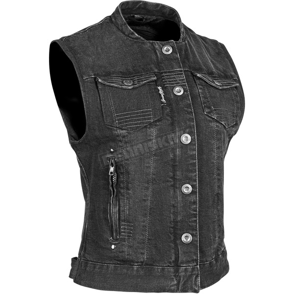 Speed and Strength Women's Black Glory Daze Denim Vest - 884467