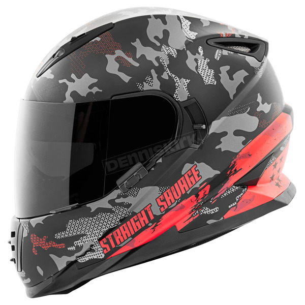 Speed and Strength Red/Black Straight Savage SS1600 Helmet - 884521