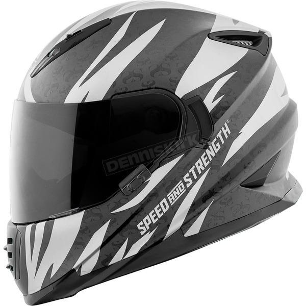 Speed and Strength Silver/Black Cat Out'a Hell 2.0 SS1600 Helmet - 884552
