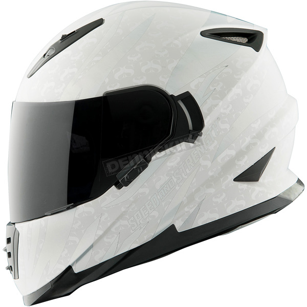 Speed and Strength Silver/White Cat Out'a Hell 2.0 SS1600 Helmet - 884558