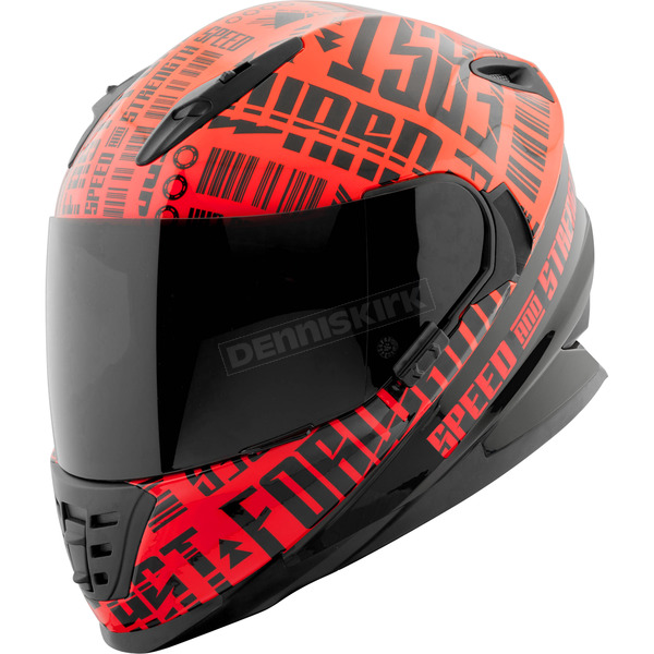 Speed and Strength Red/Black Fast Forward SS1310 Helmet - 884549