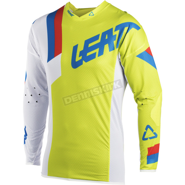 Leatt Lime/White GPX 5.5 Ultraweld Jersey - 5018700140