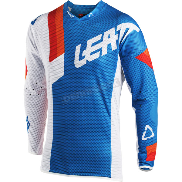 Leatt Blue/White GPX 5.5 Ultraweld Jersey - 5018700151