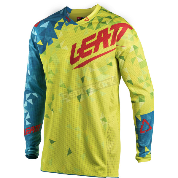 Leatt Junior/Kids Lime/Teal GPX 2.5 Jersey - 5018700272