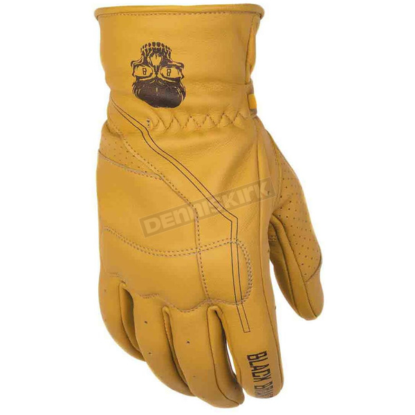 Black Brand Tan Pinstripe Gloves - BB7176