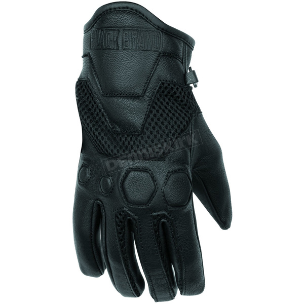 Black Brand Women's Black Tech Rider Gloves - BB7205