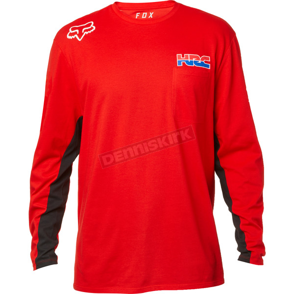 Red HRC Airline Long Sleeve Shirt - 22536-003-S