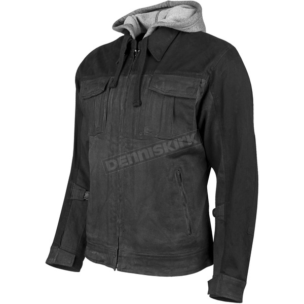 Speed and Strength Charcoal/Black Rough Neck Textile Jacket - 1101-0215-5154