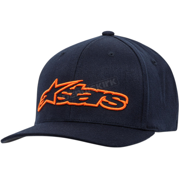 Alpinestars Navy/Orange Blaze Flexfit Hat  - 1039810057032LX