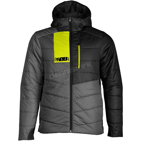 Gray/Hi-Vis Syn Loft Insulated Hooded Jacket - F04000400-160-601