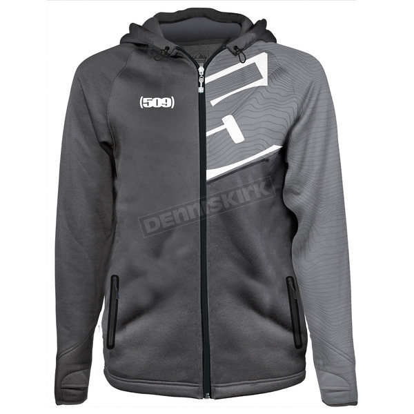509 Gray Tech Zip Hoody - F09000900-150-601