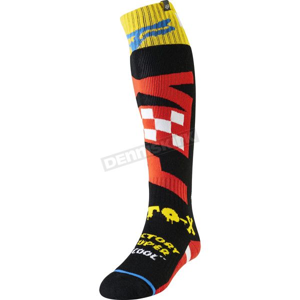 Black/Yellow Czar Fri Thin Socks