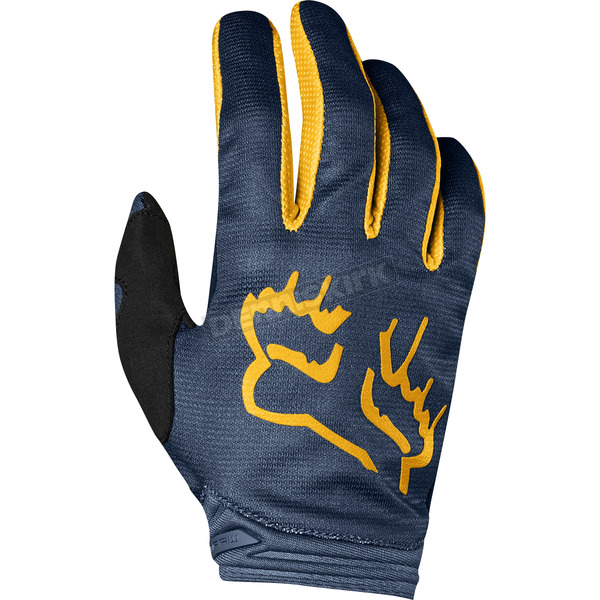 Women's Navy/Yellow Dirtpaw Mata Gloves