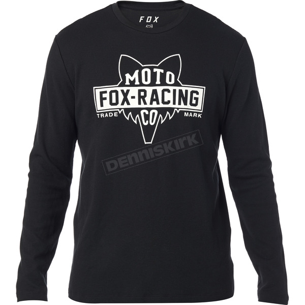 Black Flathead Thermal Long Sleeve Shirt - 22465-001-S