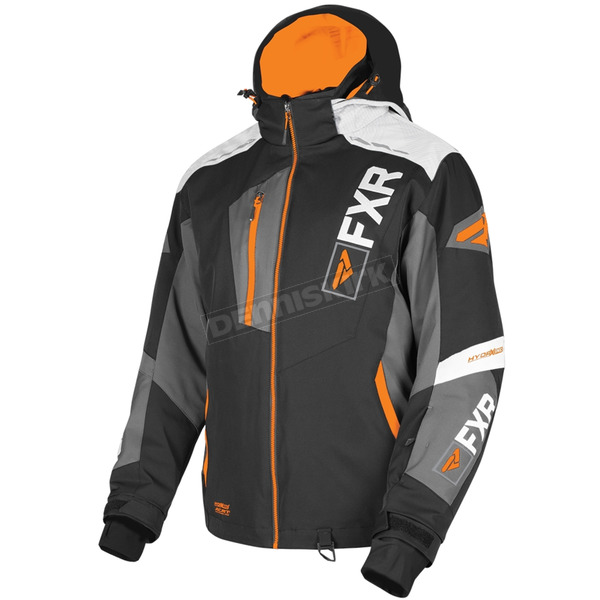 Black/Charcoal/White Weave/Orange Renegade X4 Jacket