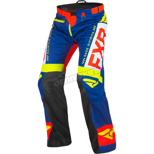 Navy/Gray/Red/Hi-Vis Cold Cross Race Ready Pants