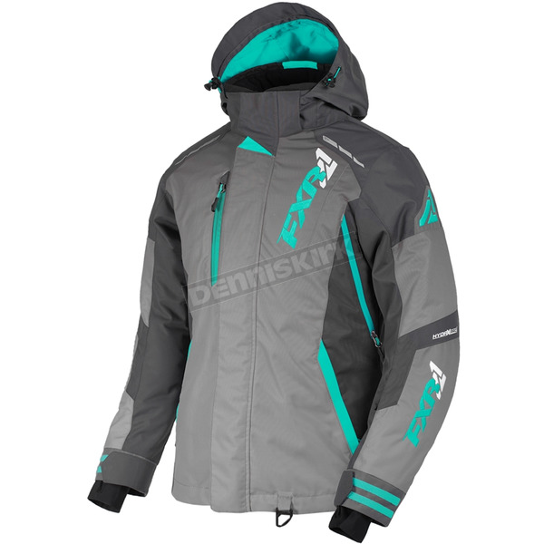 Womens Mid Grey/Charcoal/Mint Vertical Pro Jacket