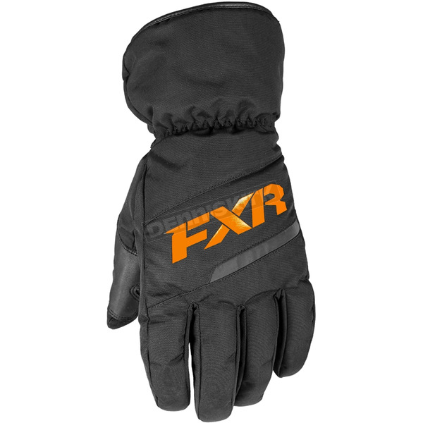 Black/Orange Octane Gloves