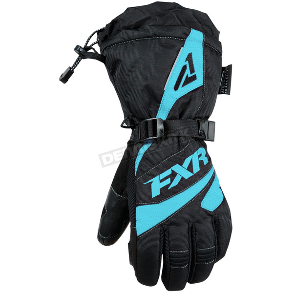 FXR Racing Women's Black/Mint Fusion Gloves - 190820-1052-13