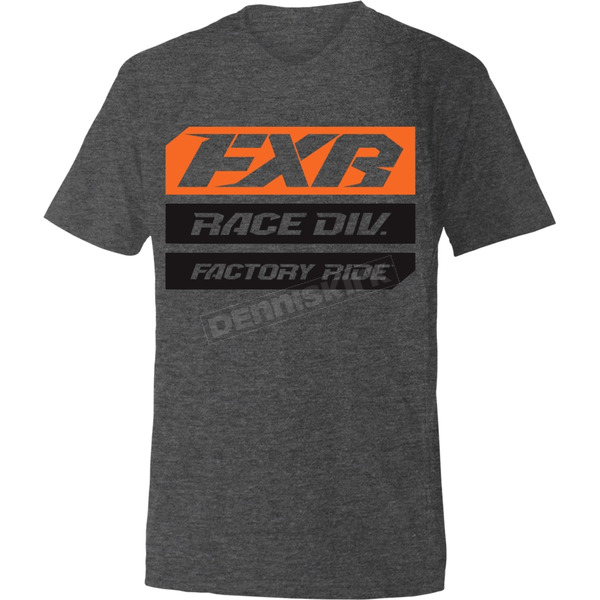 Charcoal Heather/Orange Race Division T-Shirt