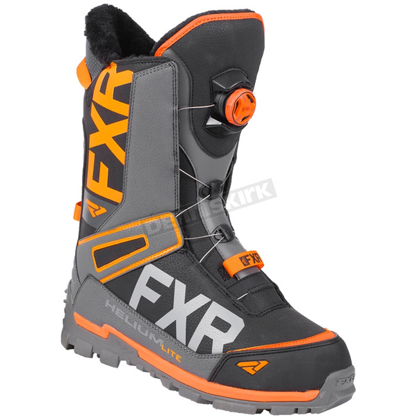 Black/Charcoal/Orange Helium Lite Boa Boots
