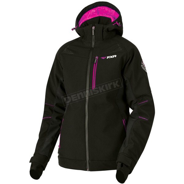 Women's Black/Fuchsia Vertical Pro Insulated Softshell Jacket