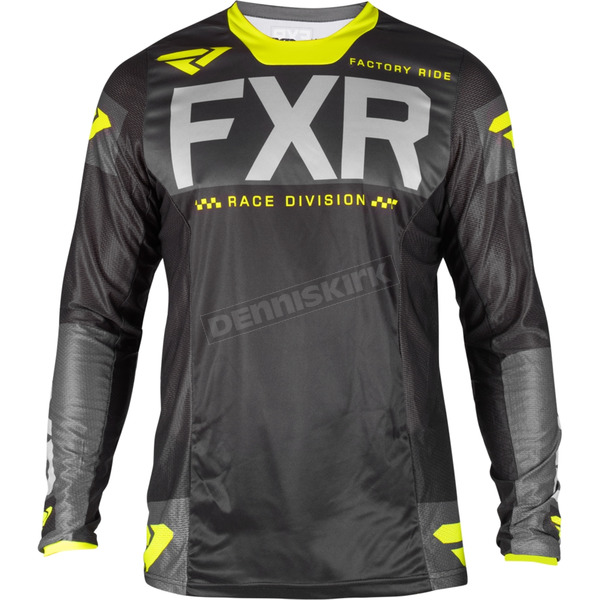 Black/Charcoal/Gray/Hi-Vis Helium MX Jersey
