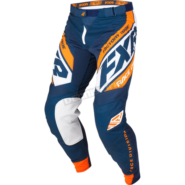 Dark Navy/White/Orange Revo MX Pants