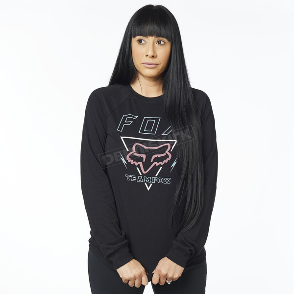 Women's Black Consulted Long Sleeve Shirt