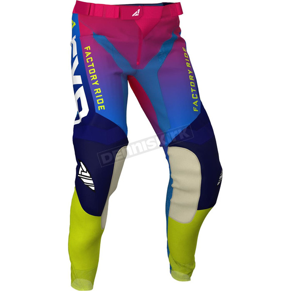 Youth Helium Coral/Blue Fade Pro-Stretch MX Pants - 203323-9340-26
