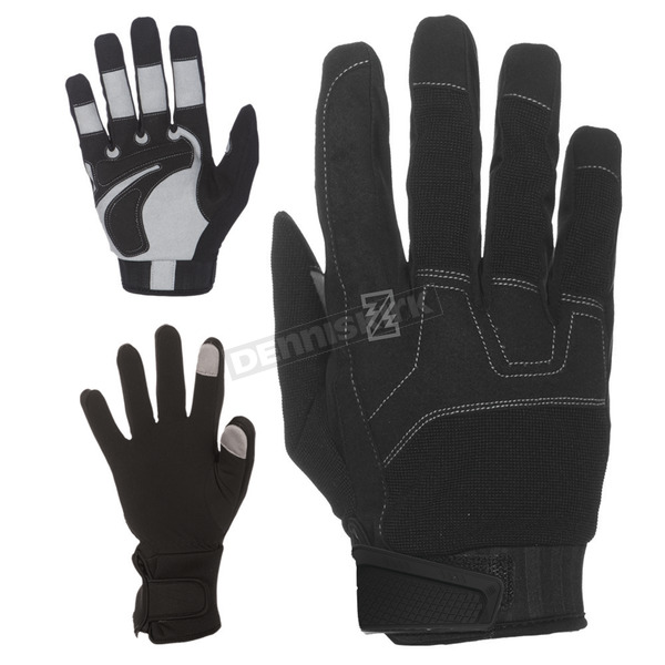 Black 7.4V Heated Workman Gloves - MWG19M07-01-06