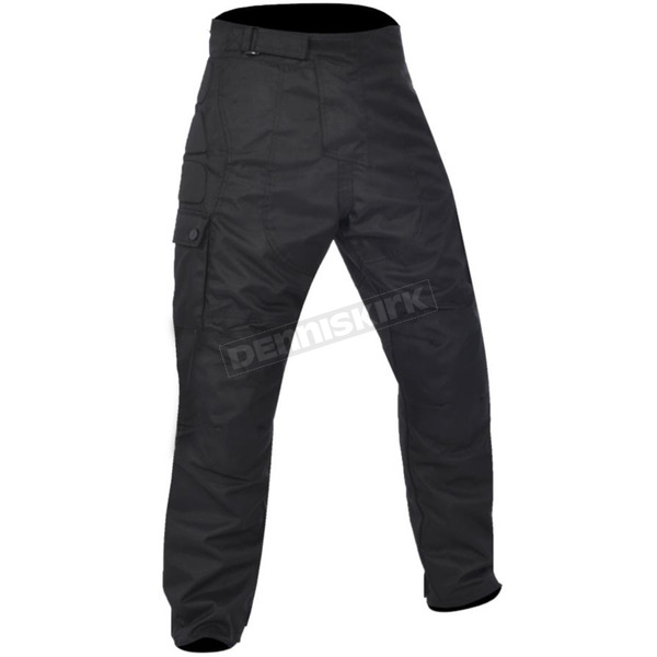 Black Spartan T17 Waterproof Textile Motorcycle Riding Pants - T17BL
