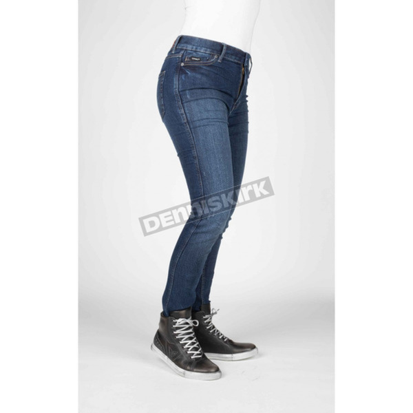 Women's Icona Blue Bull-It Tactical Slim Jeans - 115804013114
