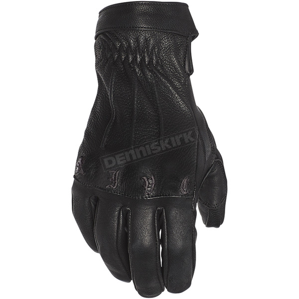 Women's Black Onyx Leather Gloves - 1102-1122-0154
