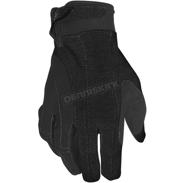 Women's Black Brat Textile/Leather Gloves